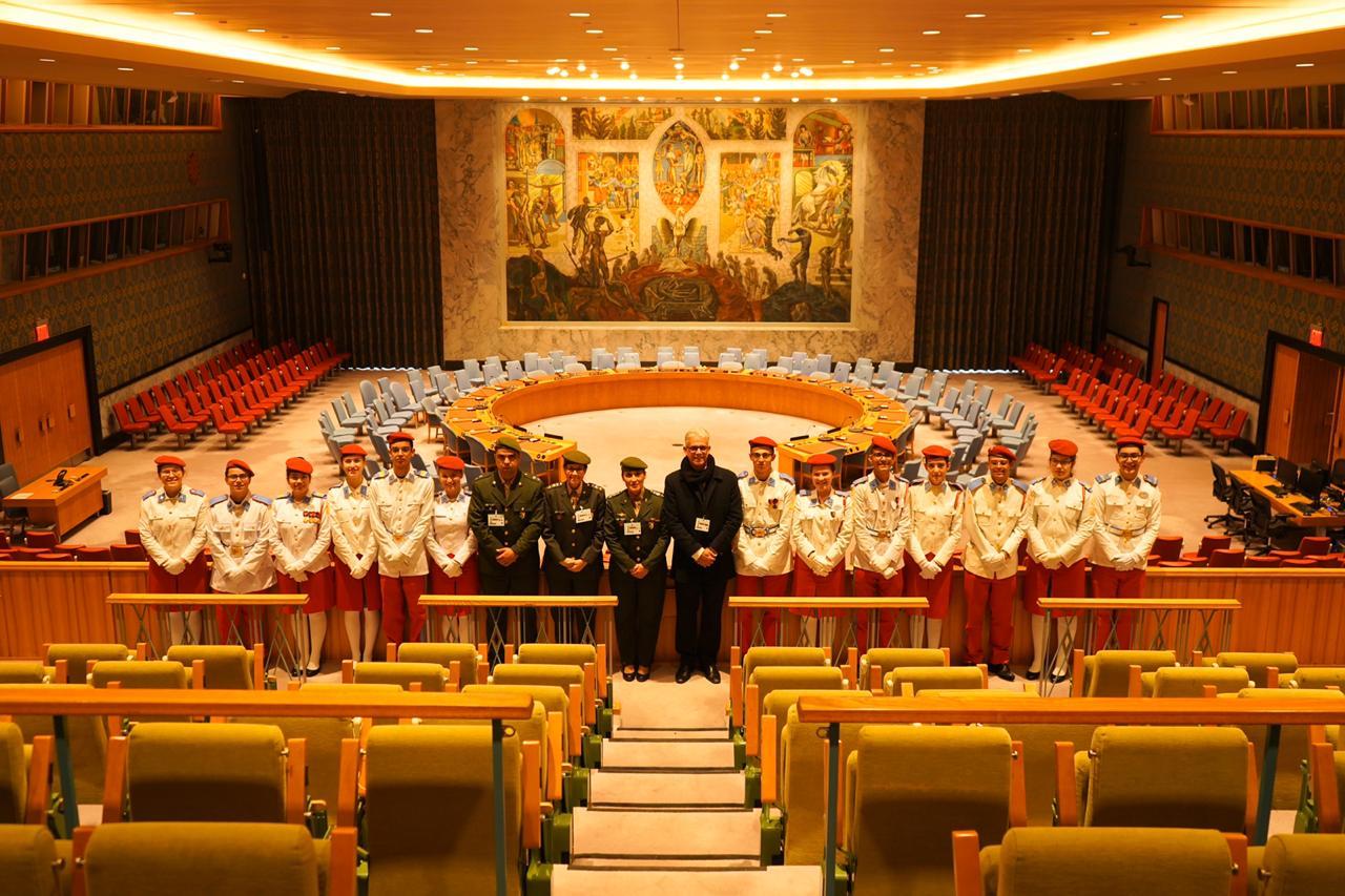 Alunos de Colégios Militares visitam a sede da ONU e o Escritório Brasileiro da Missão Permanente de Paz