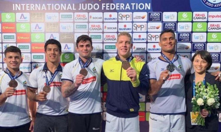 Brasil fecha GP de Tel Aviv de judô com cinco militares no pódio