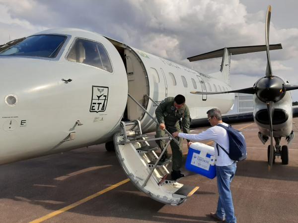 Esquadrão da FAB realiza transporte de órgão na região Norte
