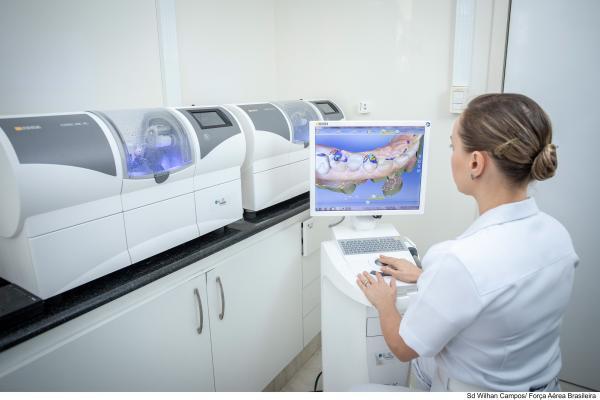 Sistema digital é utilizado para tratamento odontológio na FAB
