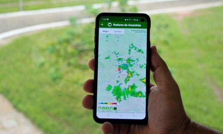 Censipam lança aplicativo para visualização de radares meteorológicos na Amazônia