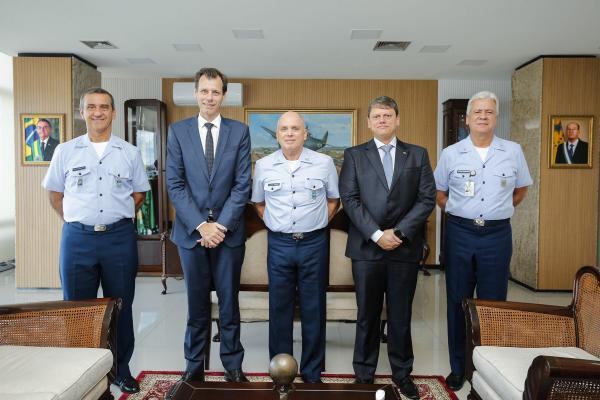 Comandante da Aeronáutica recebe Ministro da Infraestrutura