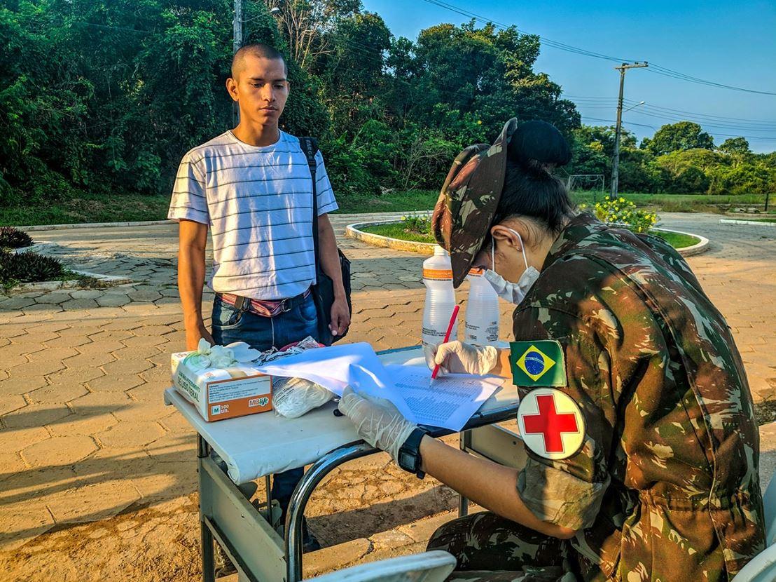 Na Amazônia, o 3º BIS realiza ações para conter a proliferação do coronavírus