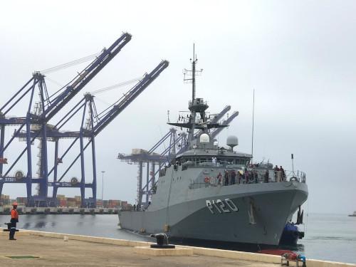 """Navio-Patrulha Oceânico """"Amazonas"""" participa da Obangame Express 2020"""