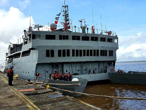 """Navio-Auxiliar """"Pará"""" inicia a Operação """"Educação na Hidrovia 2020"""""""