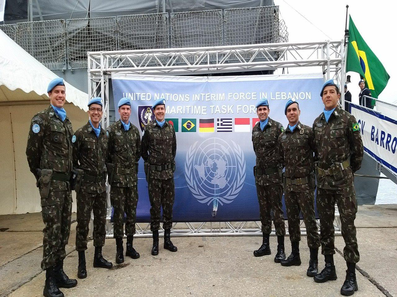 Participação na Passagem de Comando da força–tarefa marítima em Beirute
