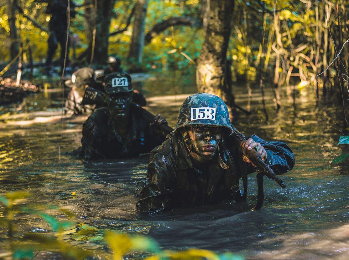 Exercício no terreno para militares incorporados em 2020