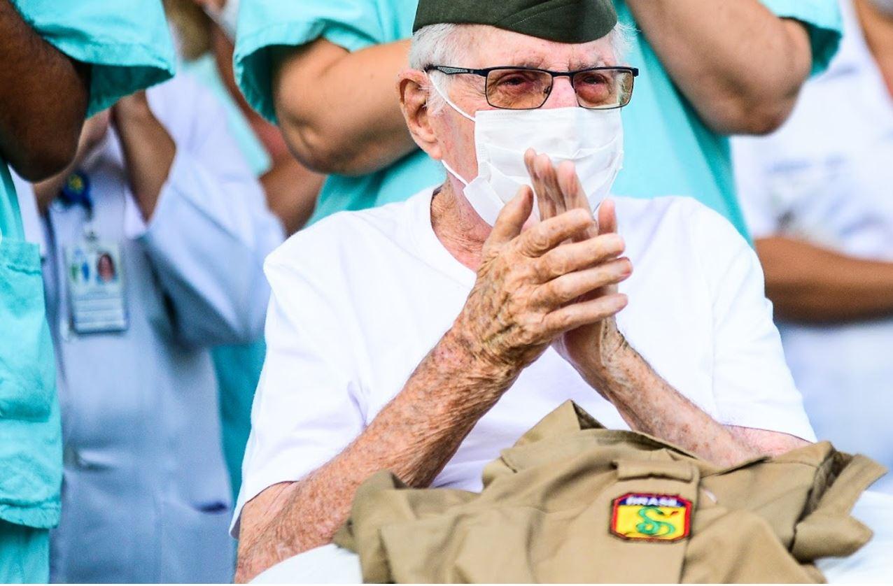 Aos 99 anos de idade, ex-integrante da FEB é o paciente mais idoso do Brasil a se curar da COVID-19