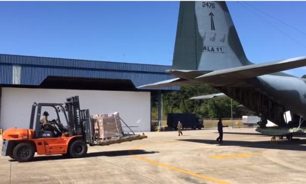 FAB transporta 4,6 toneladas de material de saúde para combater a COVID-19