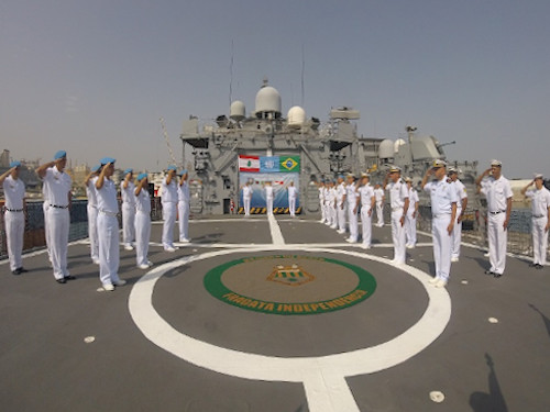 """Fragata """"Independência"""" é o novo capitânia da Força-Tarefa Marítima da UNIFIL"""