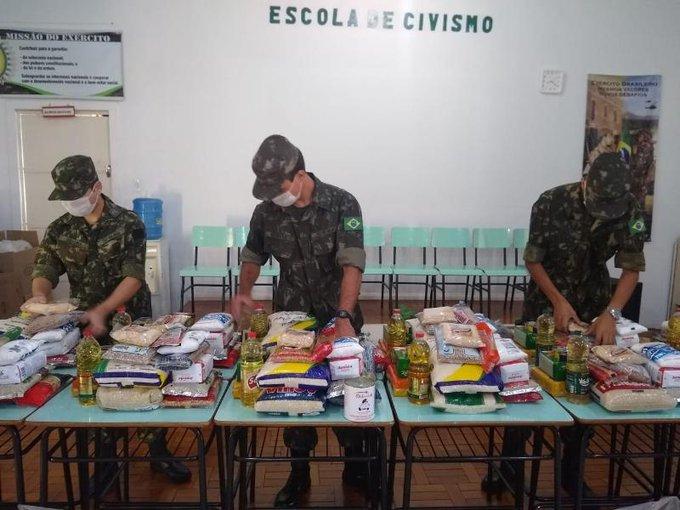 Militares das Forças Armadas atuam de forma incessante em apoio à população