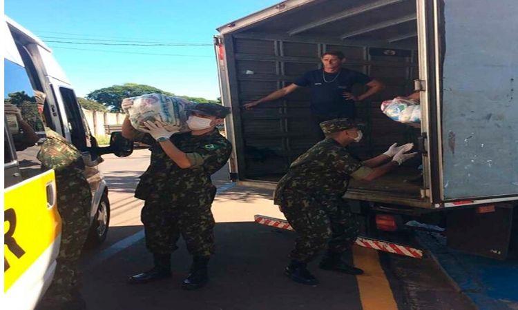 Operação Covid-19: Forças Armadas doam alimentos para famílias de baixa renda