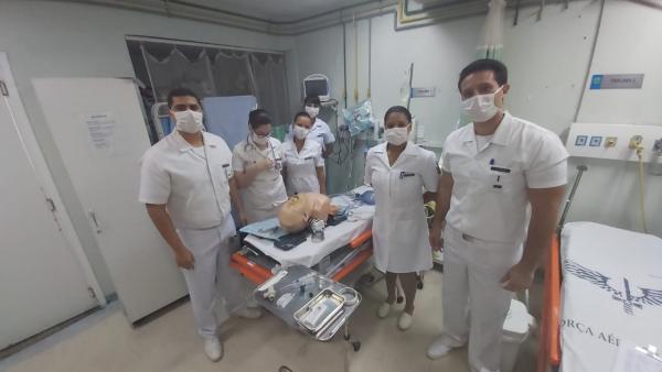 Profissionais do HAAF recebem treinamento para atender pacientes com COVID-19