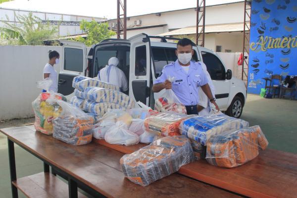 Ala 7 promove doação de alimentos e materiais de higiene pessoal