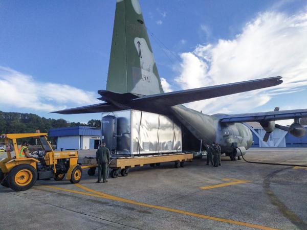 FAB transporta equipamentos hospitalares para Boa Vista (RR)