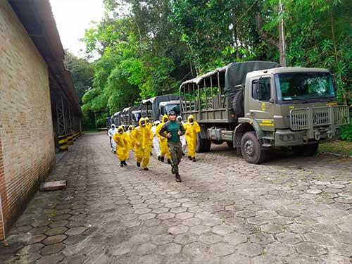 Marinha qualifica novos militares para realizar descontaminação biológica no Pará