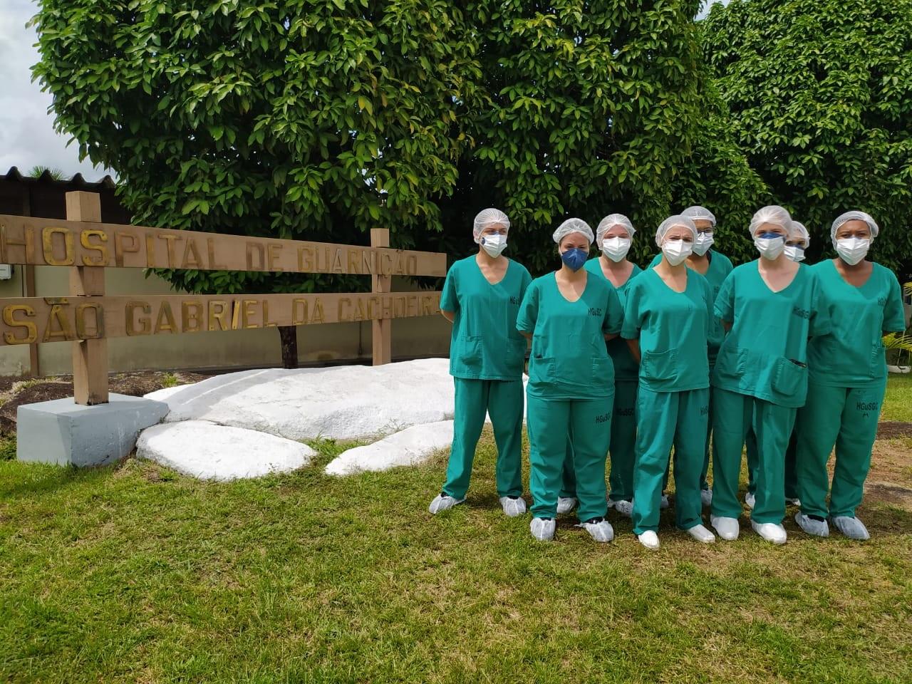 Profissionais e saúde do Exército reforçam equipes do Hospital de Guarnição de São Gabriel da Cachoeira, no Amazonas