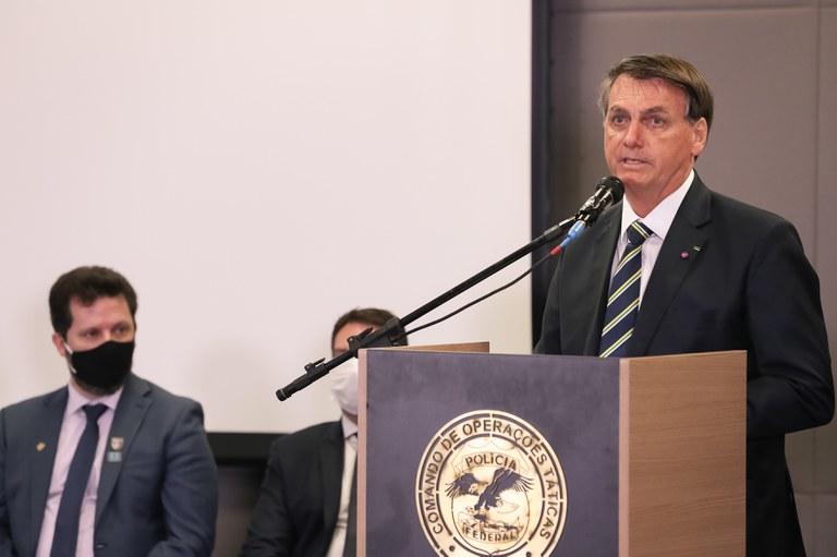 Bolsonaro participa da 22ª Semana Nacional de Políticas Sobre Drogas