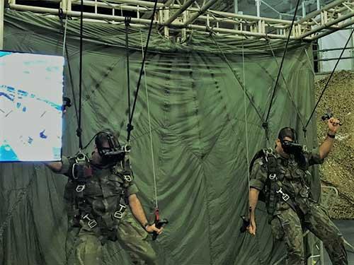 """Centro de Análises de Sistemas Navais inaugura Simulador de Paraquedas no """"Batalhão Tonelero"""""""