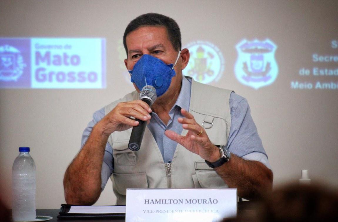 Comandos Conjuntos da Operação Verde Brasil 2 recebem visita do Vice-Presidente da República