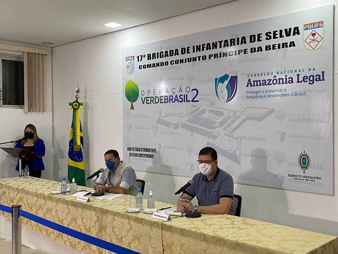 Em Porto Velho (RO), Vice-Presidente da República verifica ações do Comando Conjunto Príncipe da Beira