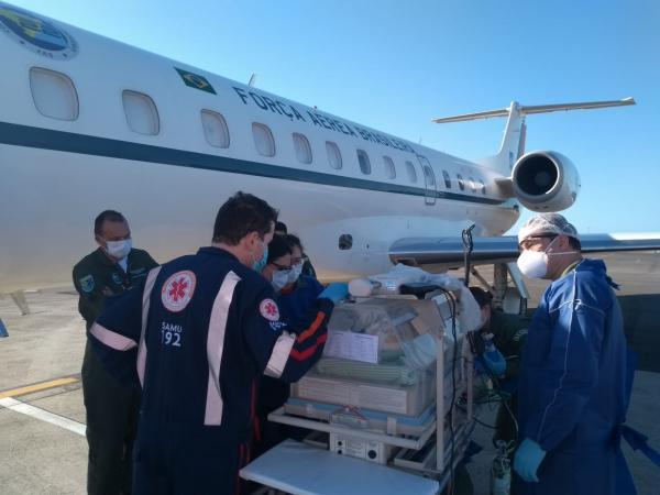 FAB realiza Evacuação Aeromédica de uma bebê de Sergipe para Santa Catarina