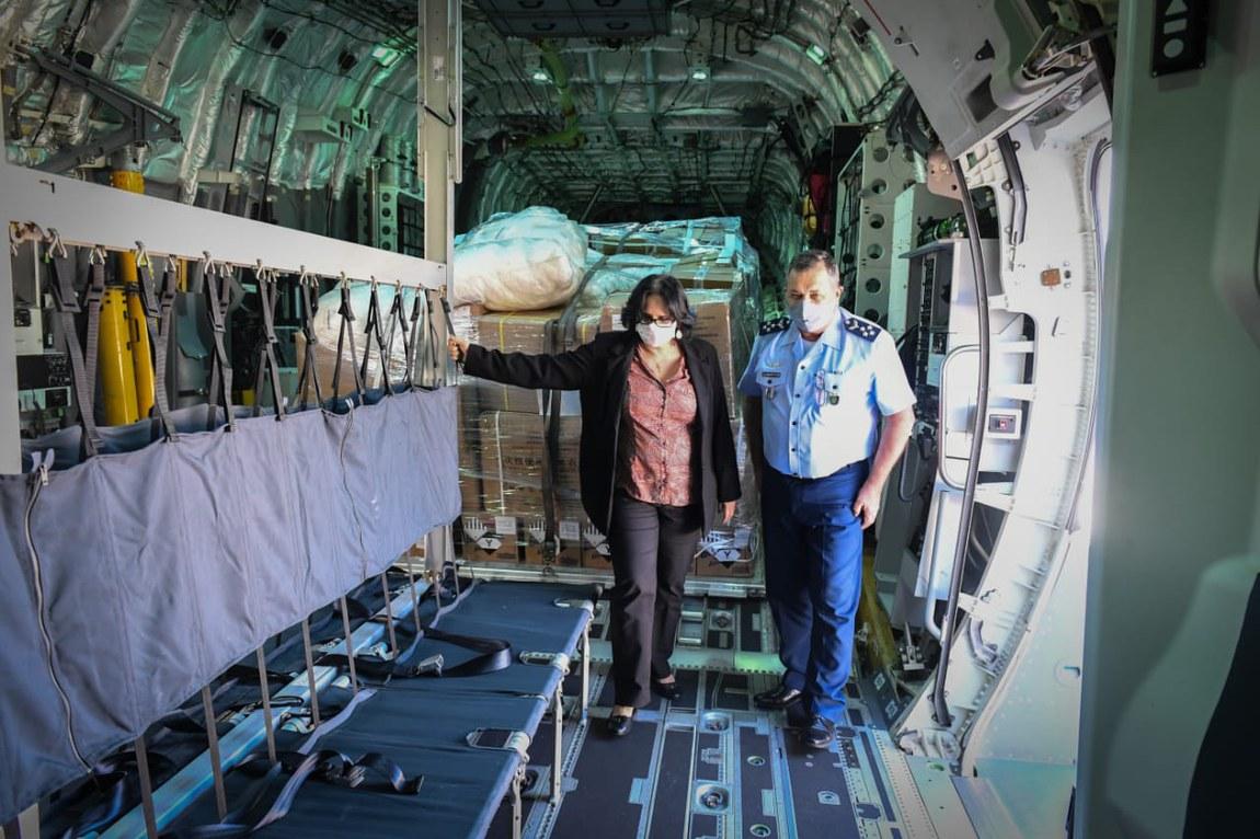 Forças Armadas asseguram apoio logístico com transporte de alimentos e insumos médicos