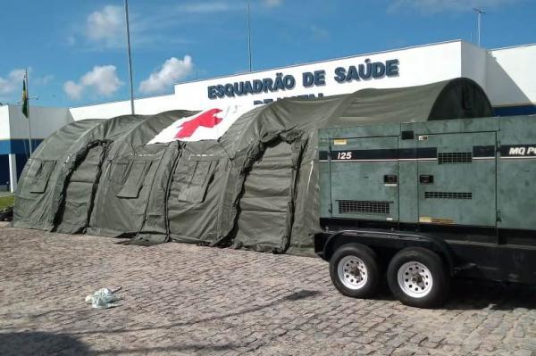 Hospital de Campanha da FAB é montado em Natal (RN) para apoio à Operação COVID-19