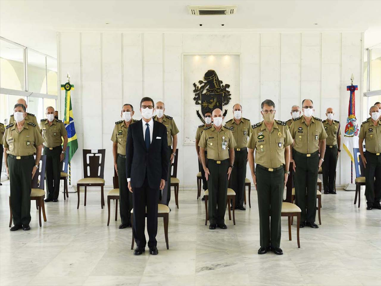 Cerimônia de imposição das medalhas Tributo à Força Expedicionária Brasileira e Marechal Trompowsky