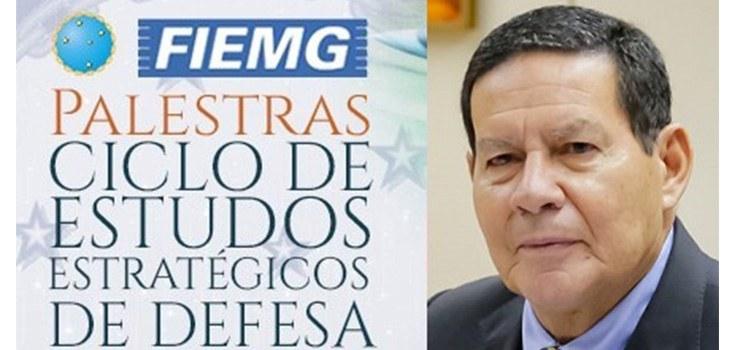 Vice-Presidente da República, Hamilton Mourão, destaca papel da indústria para retomada brasileira pós-COVID no II Ciclo de Estudos Estratégicos de Defesa