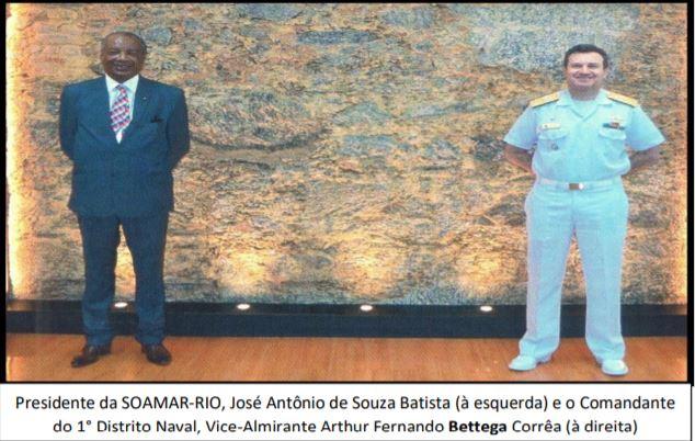 Comandante do 1º Distrito Naval e Presidente da SOAMAR RIO definem metas para 2020/21