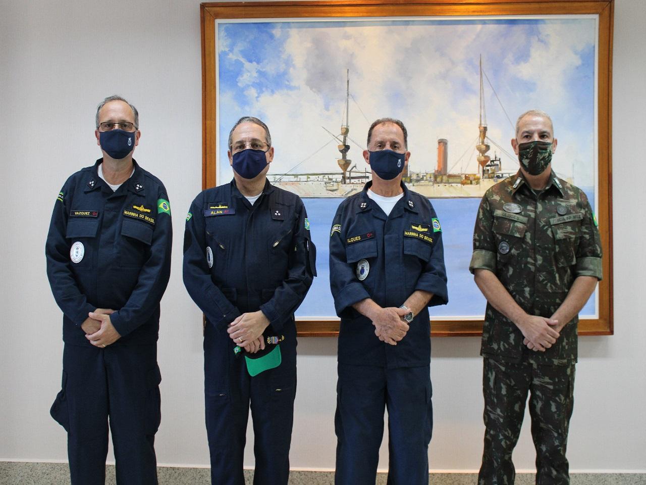 Comandante da Marinha do Brasil visita o Comando Conjunto Rio Grande do Norte e Paraíba
