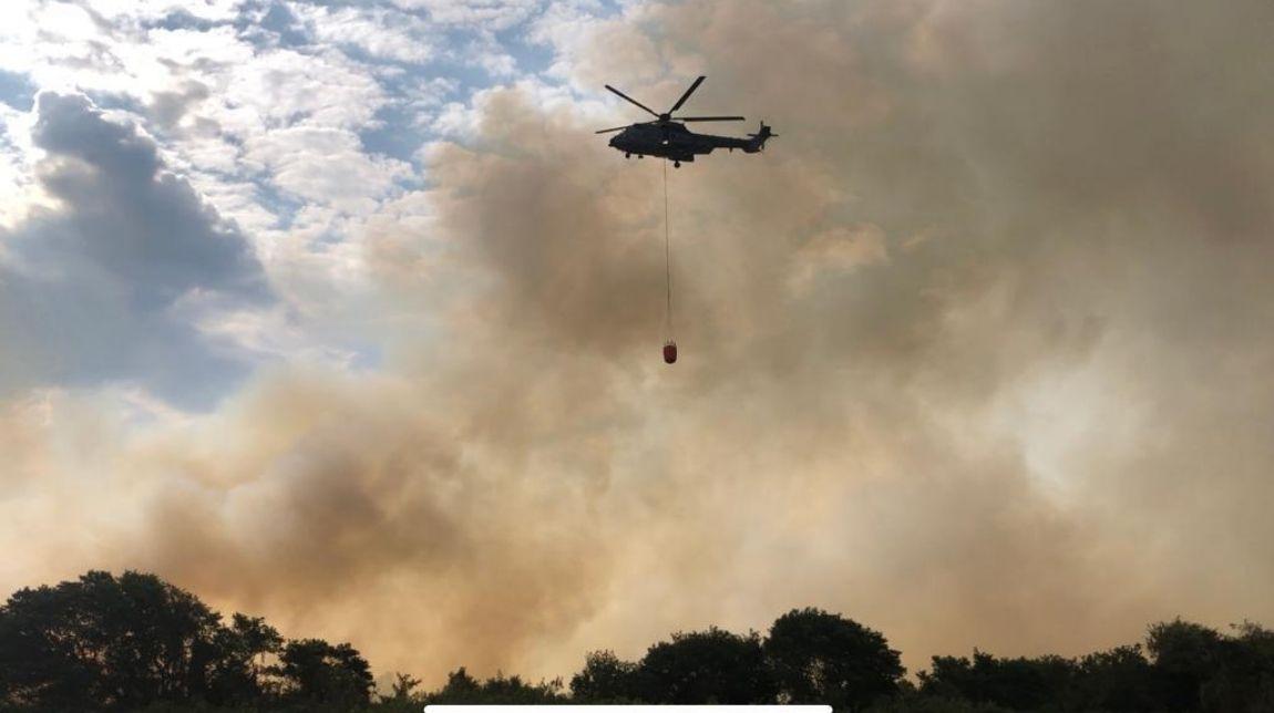 Defesa continua apoiando órgãos do governo no combate a incêndio no Pantanal