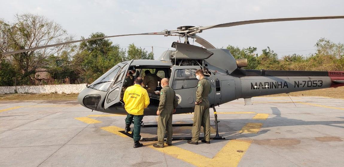 Forças Armadas empregam cinco aeronaves no combate a incêndio no Pantanal
