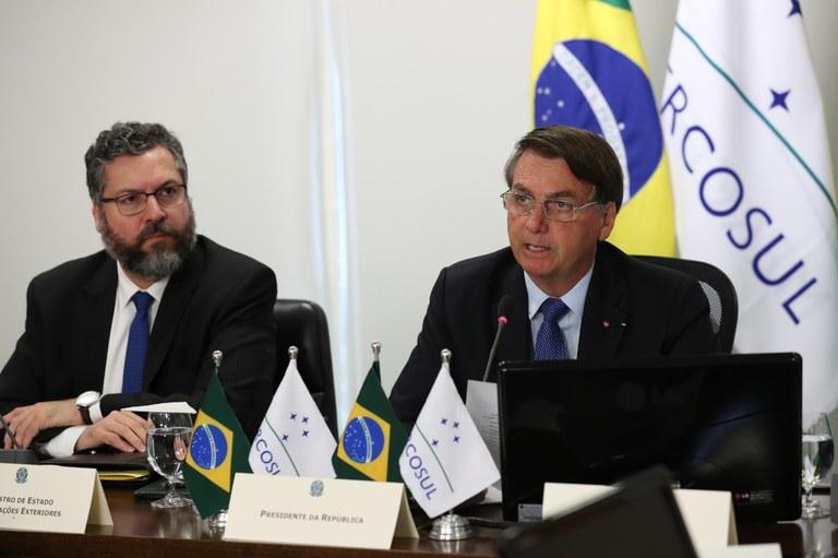 Presidente Bolsonaro participa da 56ª Cúpula do Mercosul