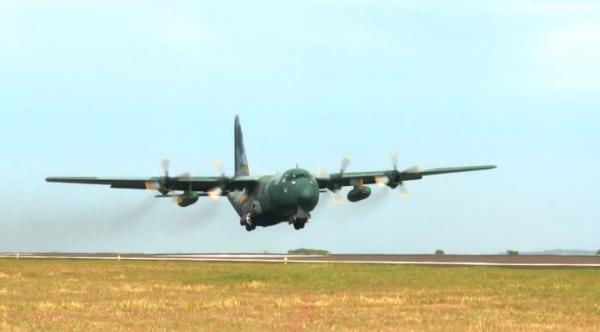 Aeronaves da FAB mantêm apoio no combate ao incêndio no Pantanal