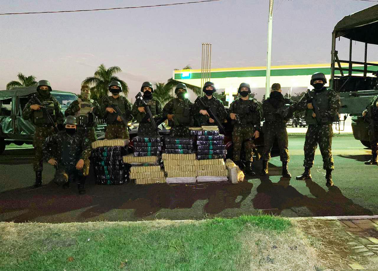 Apreensão de entorpecentes na Operação Fronteira Sul/Ágata no Paraná