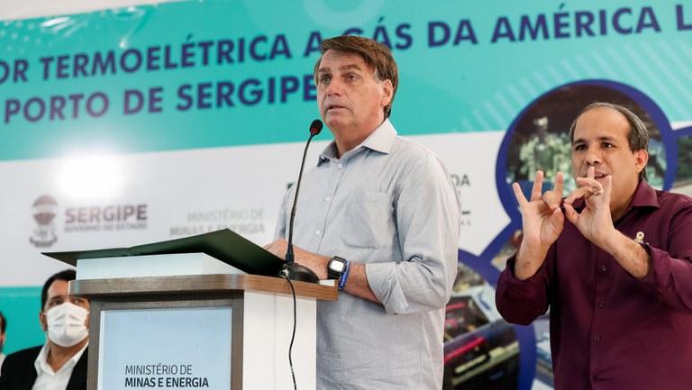 Presidente inaugura termoelétrica a gás natural em Sergipe