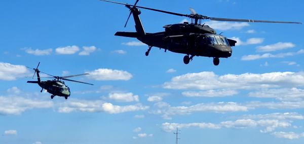 Tripulantes do Esquadrão Harpia realizam Exercício Técnico Tiro Lateral