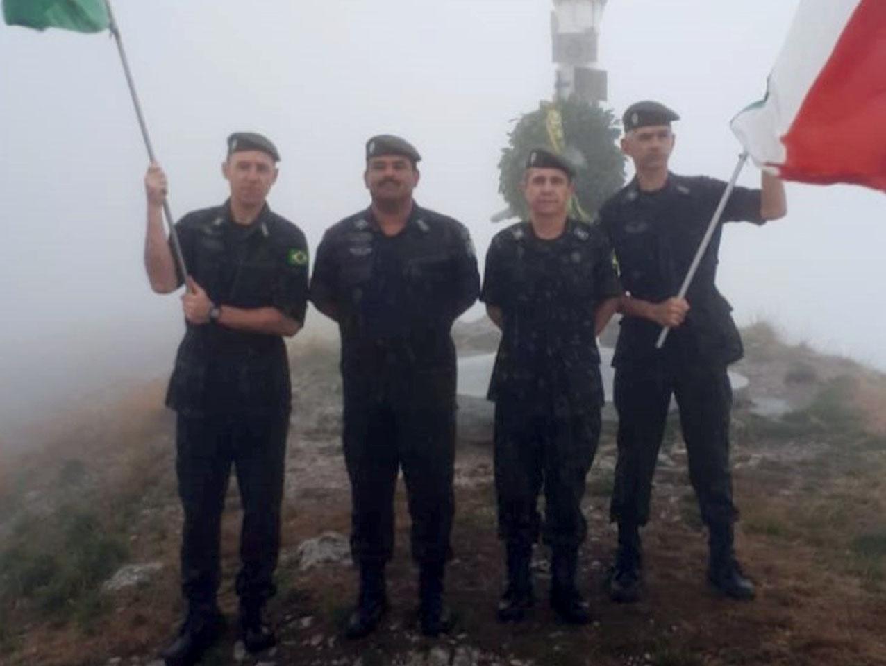 Na Itália, celebração da conquista de Monte Prano pela FEB