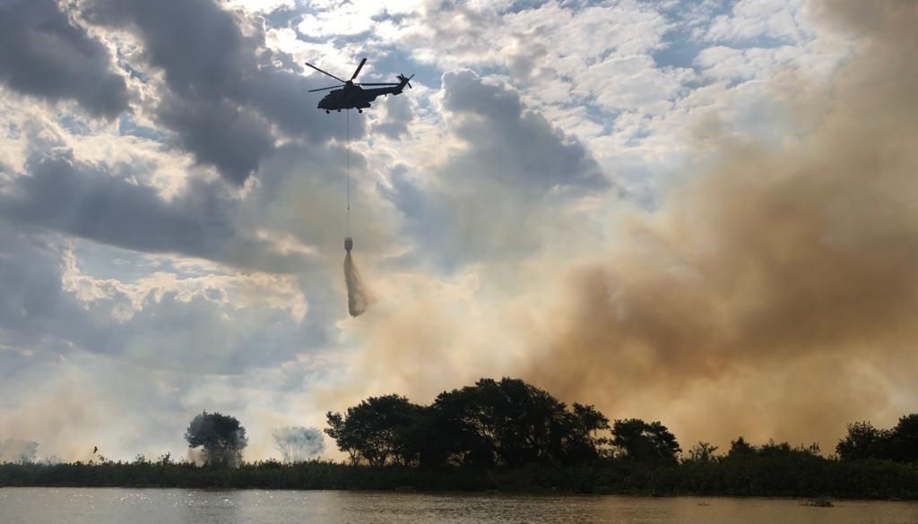 Poconé e Barão de Melgaço enfrentam queimadas com ações das Forças Armadas