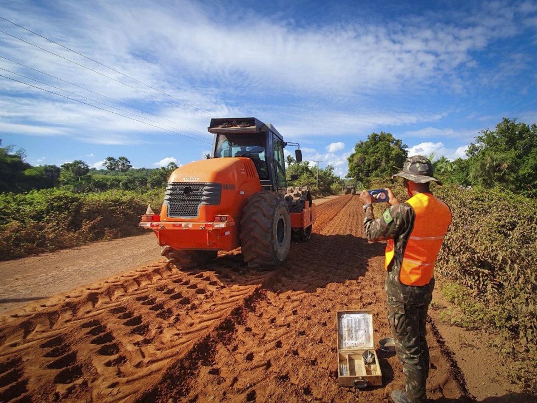 Obra de engenharia do Exército reduzirá tempo de deslocamento em trecho da BR-222 no Piauí
