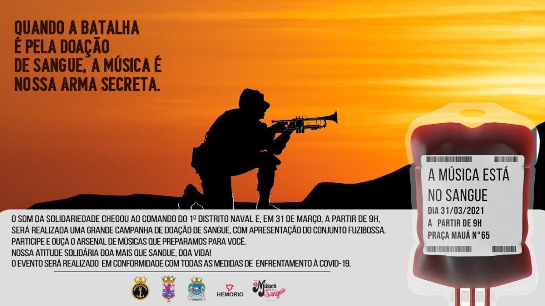 1º Distrito Naval inicia Projeto Música no Sangue no dia 31