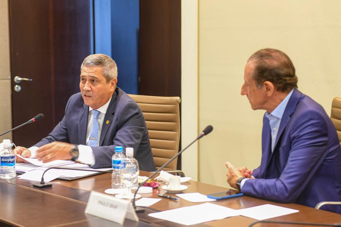 Ministro Braga Netto participa de reunião na Fiesp sobre Fintech Defesa