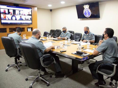 Comandante da Marinha e Sociedade Amigos da Marinha realizam reunião virtual