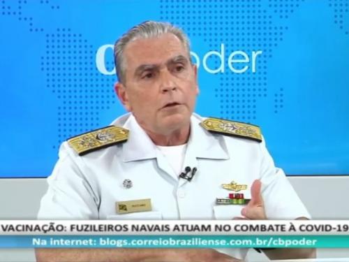 Comandante-Geral do CFN aborda papel estratégico do Corpo de Fuzileiros Navais em entrevista ao vivo para o CB.Poder