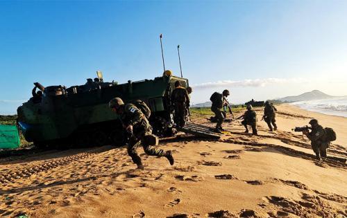 Escola de Guerra Anfíbia do CIASC promove o 4º Exercício no Terreno