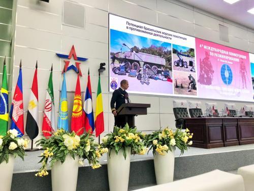 Marinha representa o Brasil na 4a Conferência Internacional de Desminagem Humanitária na Rússia