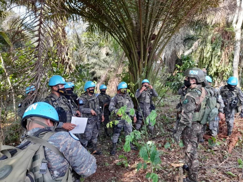 Militares brasileiros conduzem treinamento de selva para tropas da Guatemala no Congo