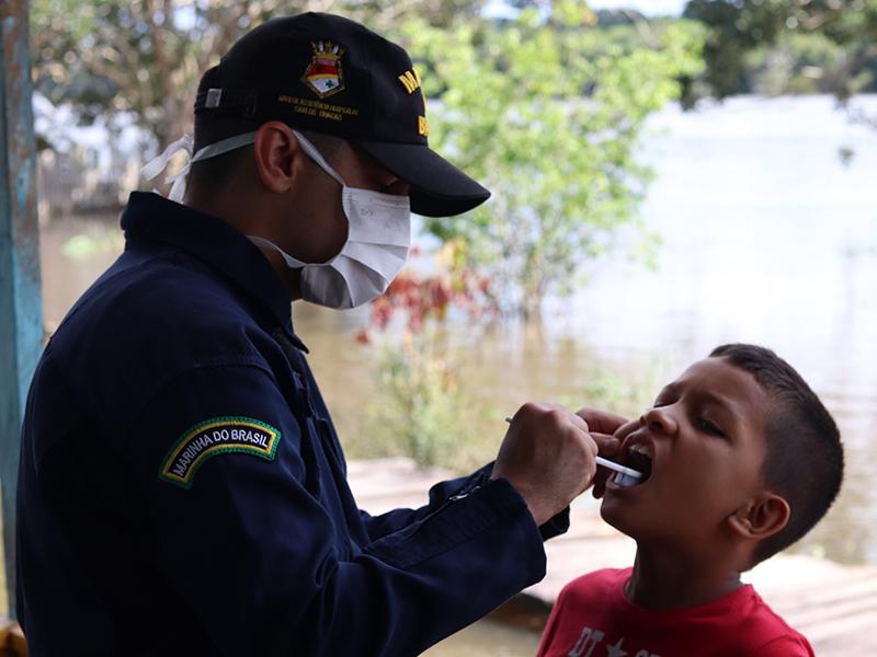 """NAsH """"Carlos Chagas"""" promove atendimentos de saúde em comunidades ribeirinhas e indígenas no Rio Javari"""
